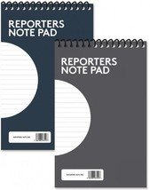 "Reporters Note Pad 5""x8"" Ruled Notebook Lined Word Book Soft Back Planne... - $3.71+"