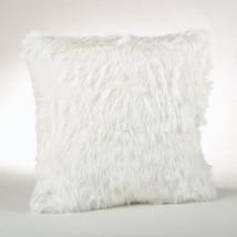 Fennco Styles Juneau Faux Fur Throw Pillow (White) - $39.59