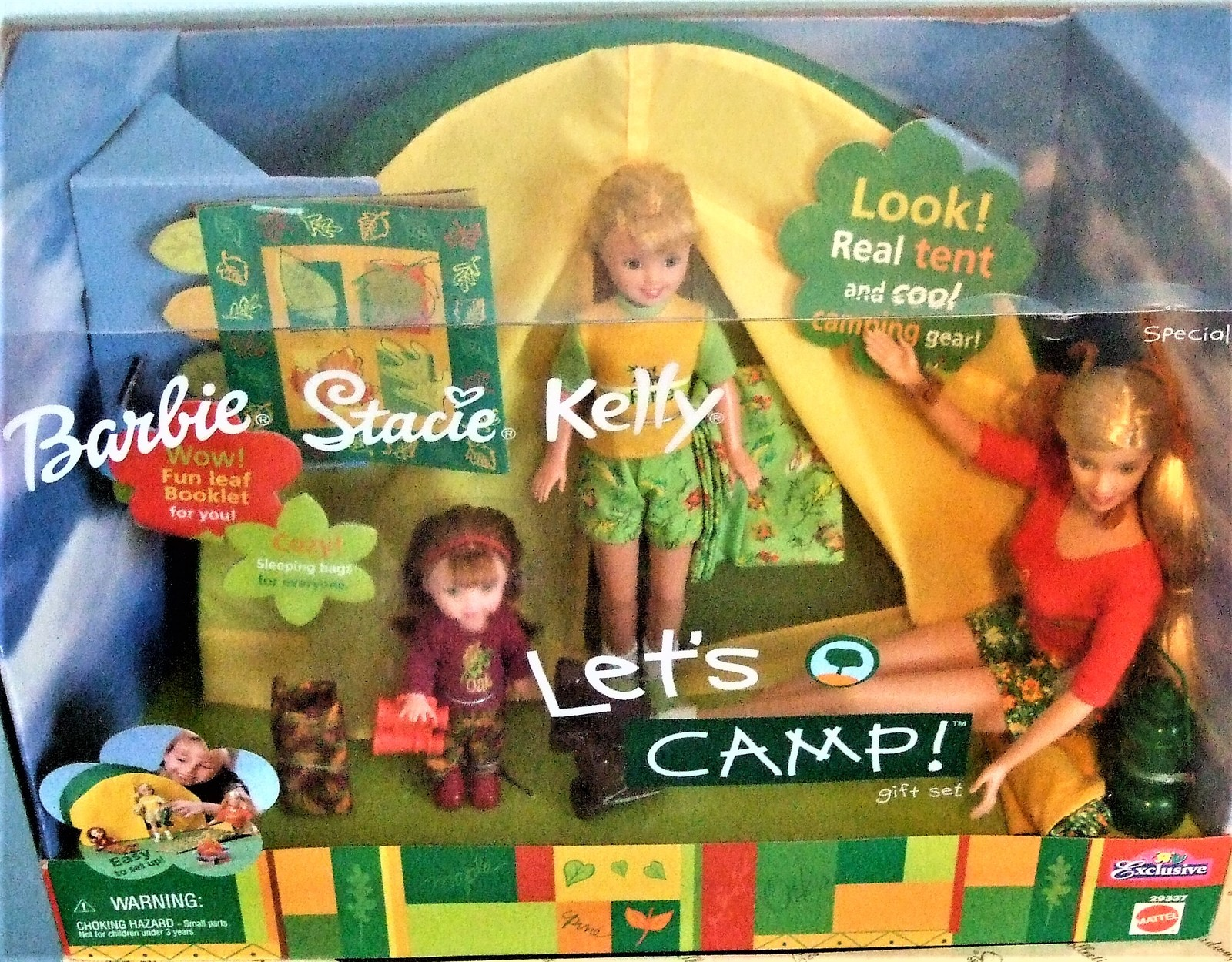 Barbie Doll LET'S CAMP BARBIE STACIE & KELLY GIFT SET TOYS R US EXCLUSIVE *NEW*