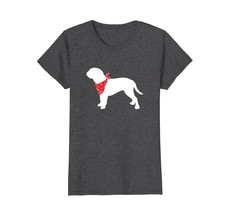 Dogue de Bordeaux Wearing Red Bandana Dog Silhouette T-Shirt - $19.99+