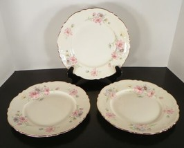 Homer Laughlin VIRGINIA ROSE Luncheon Plate (s) LOT OF 3 - $28.66