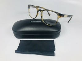 New Dolce Gabbana DG 3260 3063 Brown Striped Eyeglasses 52mm with Case & Cloth - $108.90
