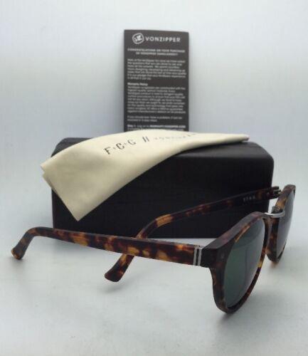 F.C.G. VONZIPPER Sunglasses VZ STAX Tortoise & Pewter Frame w/ Grey-Green Lenses image 5