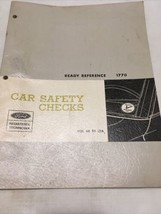 1967 Ford Ready Reference 1770 Car Safety Checks Vol 68 S3 L2A - $26.16