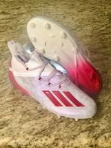 L*QQ*K  #ADIDAS Adizero Reign Young King Football Cleats FU6708 Floral RED Sz10 - $54.45
