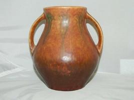 Rare Roseville Pottery Windsor 545-5 1931 Red / Brown Fern Flower Patter... - $594.00