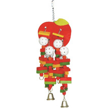 A&E Cage Multi Happy Beaks Wooden Apple Bird Toy Large - $36.17 CAD