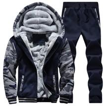 2018 Winter Style Men's Casual Thick Warm Print Sweater Set Baseball Outwear Spo - $54.06