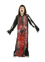 Skeleton Demon Horror Gory Hooded Robe Variation Ages From 3-8 Years - $18.11