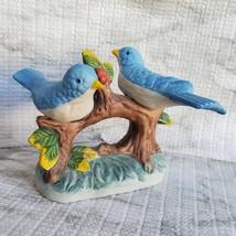 Vintage Bluebird Figurine, Handcrafted in Taiwan, Blue Bird Porcelain Statue image 3