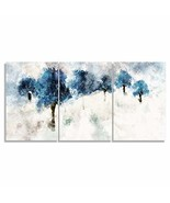 wall26 - 3 Plane Canvas Wall Art - Blue Ink Painting Landscape Prints fo... - $79.22