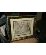 FRAMED MODES PARISIENNES 1867 PETERSON'S MAGAZINE FASHION ANTIQUE HC LIT... - $142.49