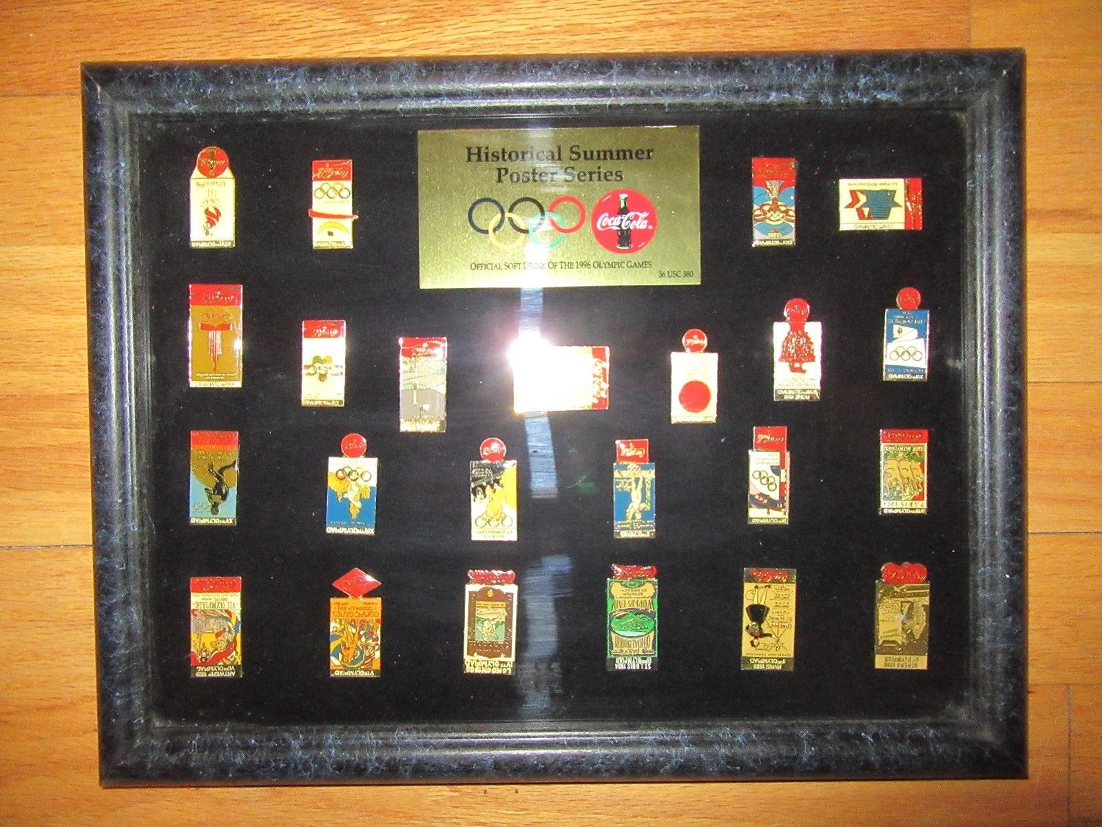 8C/RARE 1996 COCA COLA OLYMPIC HISTORICAL SUMMER POSTER SERIES PIN SET/23 PINS!