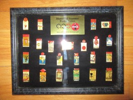 8C/RARE 1996 COCA COLA OLYMPIC HISTORICAL SUMMER POSTER SERIES PIN SET/2... - $39.55