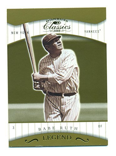 2001 Donruss Classics Legend Babe Ruth New York Yankees Serial No. 113/1755 - Ba