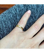 14K Solid Gold Yellow Diamond Wedding Band Engagement Ring Pinky Knuckle... - $298.00