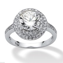 PLATINUM OVER STERLING SILVER ROUND  CUT PROMISE ENGAGEMENT RING 6 7 8 9 10 - $180.49