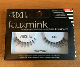 Ardell Faux Mink False Eyelashes # 814 Lightweight With Knot Free Invisiband - $5.43
