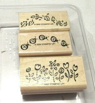 Stampin' Up! lot of 3 stamps 2002 - $10.12