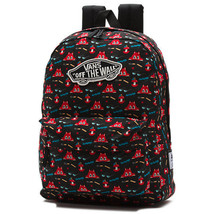 VANS Womens Large Backpack Dabsmyla Black/Red School Bag VA2YYTBLK FREE ... - $93.55