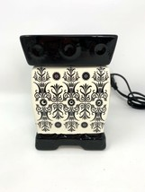 Scentsy Boleyn Full Size Scented Wax Warmer, Black and White, Ceramic - $20.71