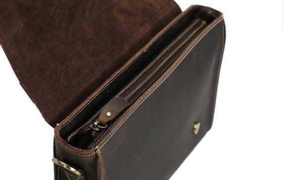 Sale, Vintage Leather Briefcase, Messenger Bag, Satchel Bag, Crossbody Bag image 6