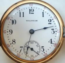 Vintage Waltham 14K Solid Gold Pocket Watch - $395.01