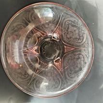 Pink Royal Lace Depression Glass Console Bowl Hazel Atlas 3-Legged Strai... - $31.99