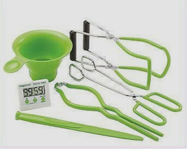 New PRESTO 7 Function Canning Kit Accessories Kitchen Timer Funnel Lifte... - $21.93