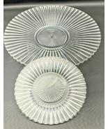 """Vtg Heisey Glass Clear 11-1/8"""" Platter & Bread & Butter Plate Ridgeleigh... - $33.24"""