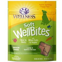 Wellness Soft WellBites Natural Grain Free Dog Treats, Lamb & Salmon, 6-... - $10.95