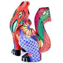 Handmade Alebrijes Oaxacan Copal Wood Carved Folk Art Howling Wolf Coyote Figure image 3