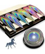 Holographic Chrome Nail Powder - Imethod Premium Salon Grade Rainbow Uni... - $16.82
