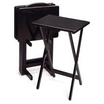 Winsome Black 5-Piece Rectangular TV Table Set - $230.39
