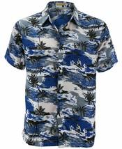 Men's Hawaiian Tropical Beach Party Button Up Casual Dress Shirt w/ Defect 2XL image 2