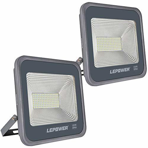 100w Craft Led Flood Lights Super Bright Work Lights: LEPOWER 2 Pack 100W LED Flood Light, 10000lm Super Bright