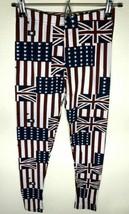ShoSho Women's Stretchable Leggings W/UK Flag/USA Design One Size - $8.53