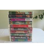 NEW Lot 10x Walt Disney Masterpiece Gold VHS Movies Tarzan Pinocchio Bla... - $18.99