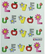 BANG STORE Nail Art Water Decals Love Letters Flowers Valentine's Day  - $2.11