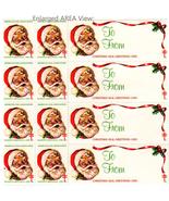 Christmas Seals Santa Claus 30 Holiday Theme American Lung Association 1... - $14.99