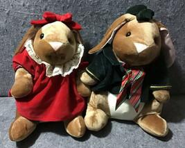 Commonwealth 1985 Toys R Us Exclusive Velveteen Rabbit Boy + Girl Plush Duo - $67.32