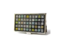 Art Mother of Pearl, Business card case, Business card holder, ID Name c... - $27.90