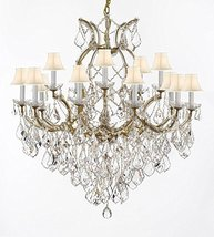 Made with Swarovski Crystal Maria Theresa Chandelier Lights Fixture Pendant Ceil - $910.83