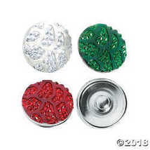 Large Christmas Sparkle Snap Beads - $10.63