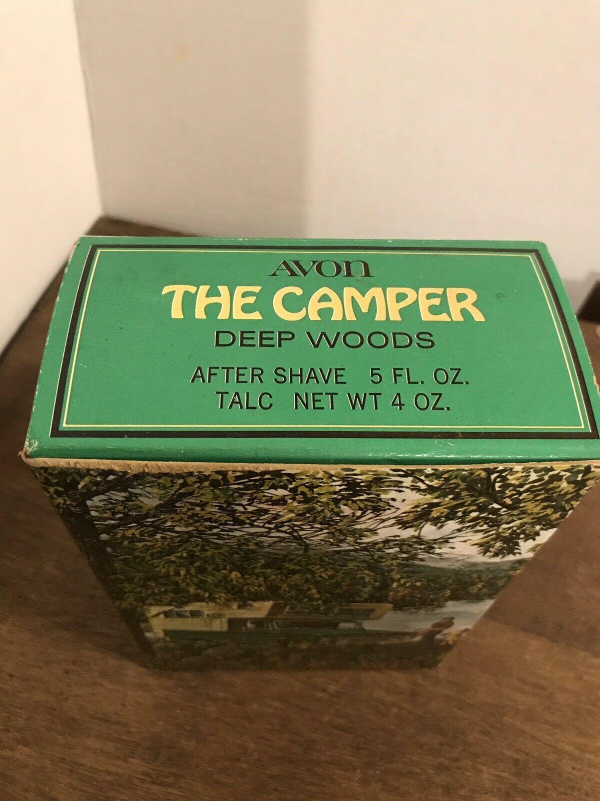 Avon Deep Woods Vintage Camper Bottle