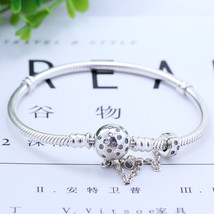 2019 New Original 925 Sterling Silver Bead Charm Moments Bangle CZ Clip ... - $27.07