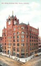 DENVER, Colorado CO   MINING EXCHANGE BUILDING & Street View   ca1910's ... - $7.83