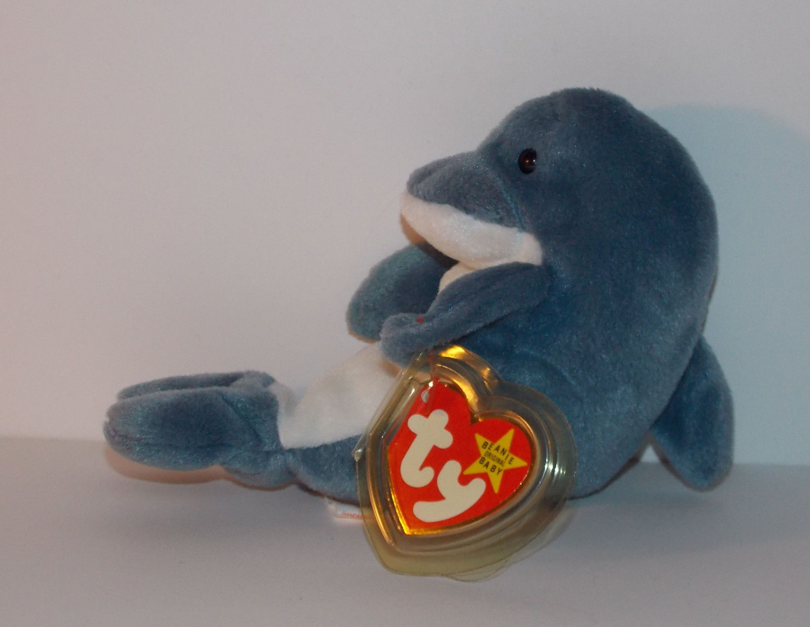 Ty Beanie Baby Echo 65quot Plush Dolphin Waves Tag Stuffed