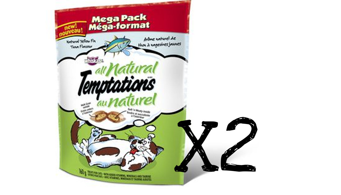 Whiskas Temptations Cat Treats All Natural And 50 Similar Items Friskies Party Mix Mixed Grill 60g Tuna 160g X 2 Package Canadian