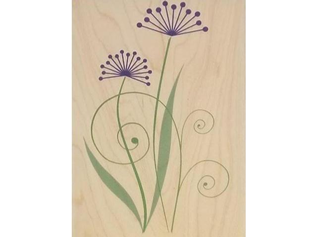 Hero Arts Two Flourish Flowers Rubber Stamp #H4464